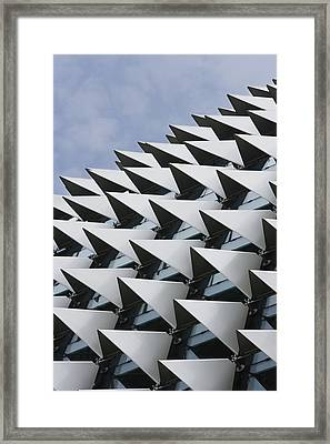 Close Up Of Esplanade Theater Roof, Singapore Framed Print by Asia Images