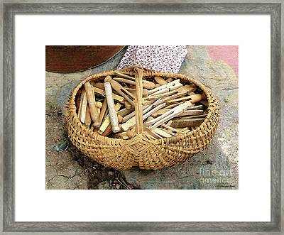 Clothes Minded Framed Print by Cristophers Dream Artistry