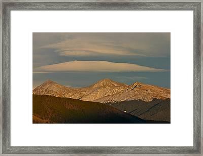 Cloud Cap Framed Print by Bob Berwyn