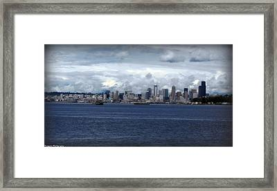 Cloud Capitol Framed Print by Benjamin Thompson