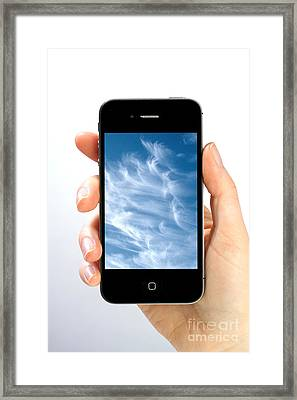 Cloud Computing Framed Print by Photo Researchers