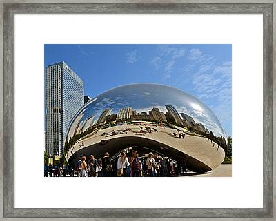Cloud Gate - The Bean - Millennium Park Chicago Framed Print by Christine Till