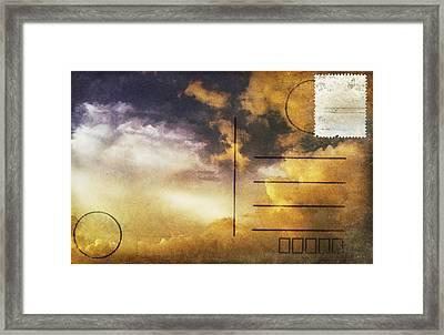 Cloud In Sunset On Postcard Framed Print by Setsiri Silapasuwanchai