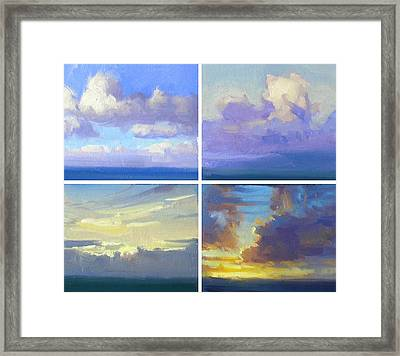Cloud Studies Framed Print by Richard Robinson