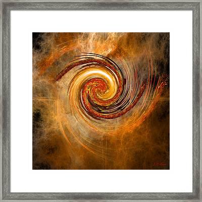 Cloud Vortex Framed Print by Michael Durst