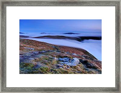 Cloud Waterfalls Bannerdale Crags Framed Print by Stewart Smith