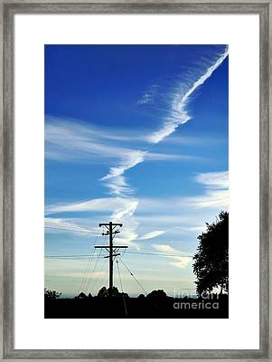 Cloud With A Backbone Framed Print by Kaye Menner