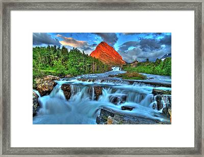 Clouds And Waterfalls Framed Print by Scott Mahon