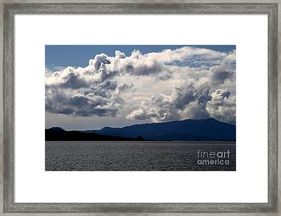Clouds Over Mount Tamalpais . 7d13713 Framed Print by Wingsdomain Art and Photography