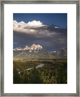 Clouds Over The Tetons Framed Print by Andrew Soundarajan
