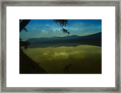 Clouds Trying To Dance In Still Water Framed Print by Jeff Swan