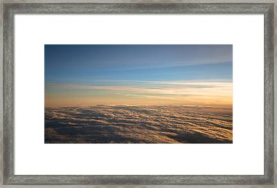 Cloudscape From A 757 Framed Print by David Patterson