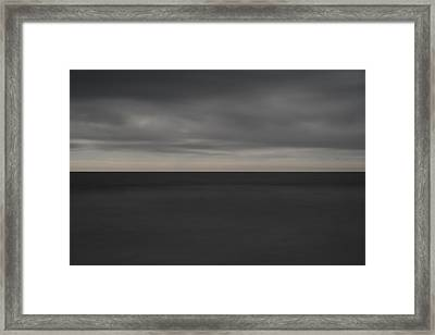 Cloudy Afternoon On Beach Framed Print by Catherine Lau