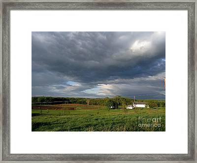 cloudy with a Chance of Paint 2 Framed Print by Trish Hale