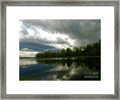 cloudy with a Chance of Paint 4 Framed Print by Trish Hale