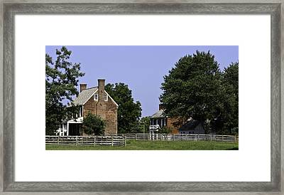 Clover Hill Tavern And Kitchen Appomattox Virginia Framed Print by Teresa Mucha