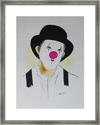 Clown   Framed Print by Robert Tarzwell
