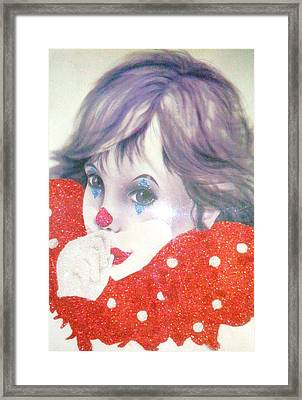 Clown Baby Framed Print by Unique Consignment