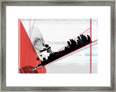 Clubmusic Framed Print by Naxart Studio
