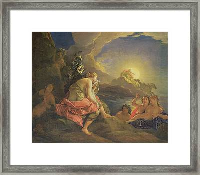 Clytie Transformed Into A Sunflower Framed Print by Charles de Lafosse