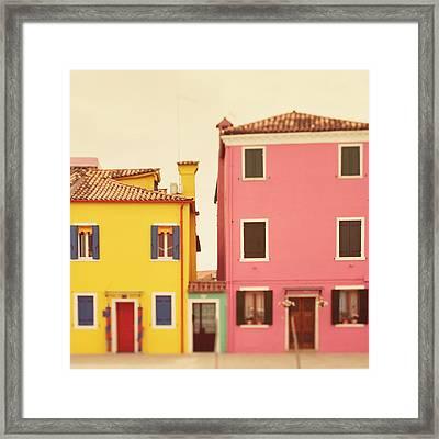 C'mon Get Happy Framed Print by Irene Suchocki