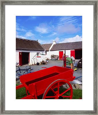 Co Donegal, Ireland Cottage Near Framed Print by The Irish Image Collection