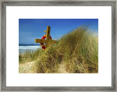 Co Down, Ireland Lifebelt Framed Print by The Irish Image Collection