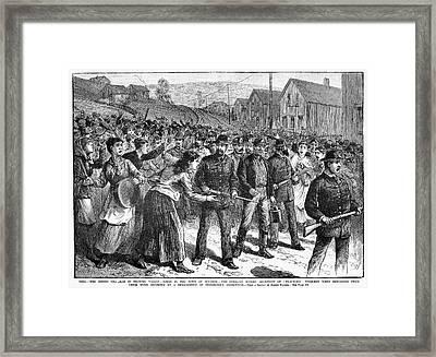Coal Miners Strike, 1884 Framed Print by Granger