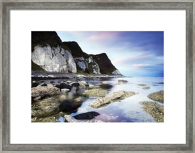 Coast Between Carnlough & Waterfoot, Co Framed Print by The Irish Image Collection
