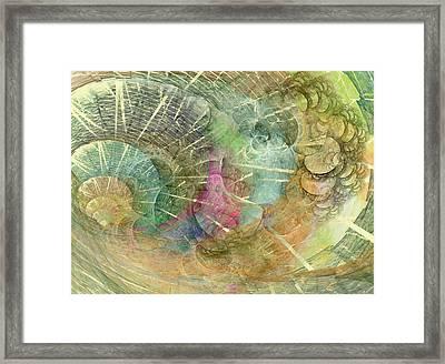 Coastal Cosine Gem  Framed Print by Betsy Knapp