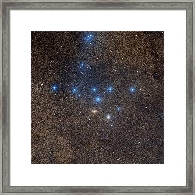 Coathanger Star Cluster Framed Print by Celestial Image Co.