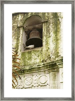 Coban Church Bell Framed Print by John  Mitchell