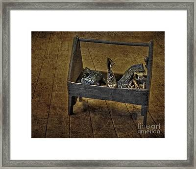 Cobblers Shoe Box Framed Print by Susan Candelario