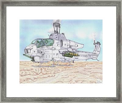 Cobra Attack Helicopter Framed Print by Calvert Koerber