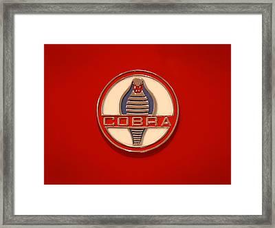 Cobra Emblem Framed Print by Mike McGlothlen