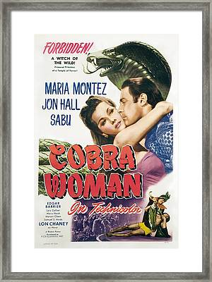 Cobra Woman, Maria Montez, Jon Hall Framed Print by Everett