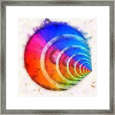 Code Of Colors 8 Framed Print by Angelina Vick