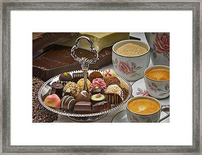 Coffee And Chocolates Framed Print by Frank Lee