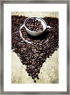 Coffee Art Framed Print by Falko Follert