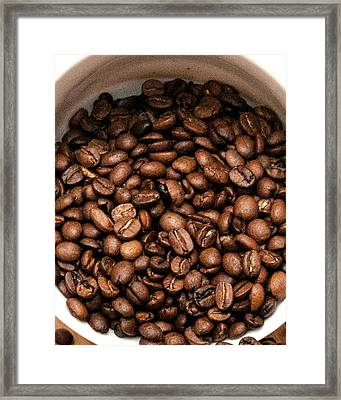 Coffee Beans Framed Print by Jack Scicluna