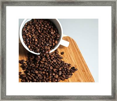 Coffee Cup Framed Print by Jack Scicluna