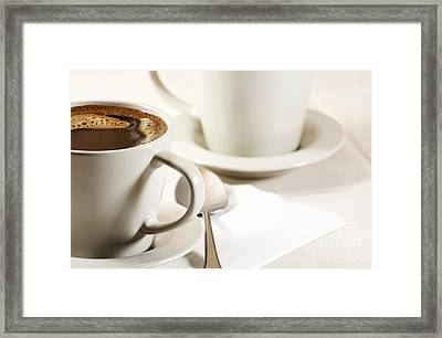 Coffee In Cup Framed Print by Blink Images