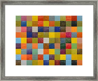 Collage Color Study 108 Framed Print by Michelle Calkins
