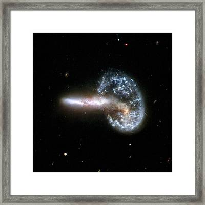 Colliding Galaxies Arp 148, Hst Image Framed Print by Nasastsciauraesaa. Evans (university Of Virginia, Charlottesville; Nrao; Stony Brook University)