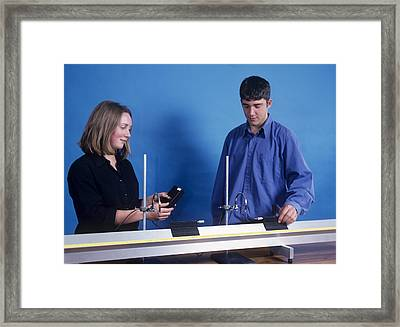 Collision Experiments Framed Print by Andrew Lambert Photography