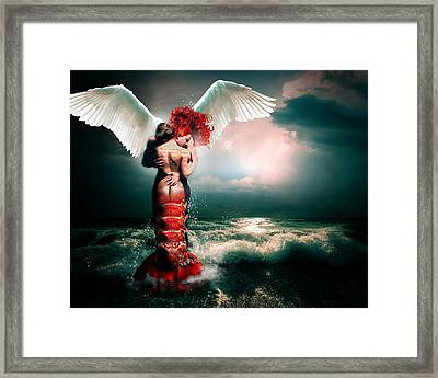 Collision I Framed Print by Courtney Chaney