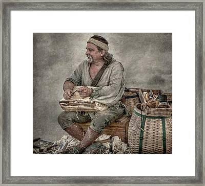 Colonial Woodcarver Portrait Framed Print by Randy Steele