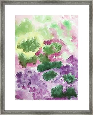 Color And Light In Monet's Garden Framed Print by Heidi Smith
