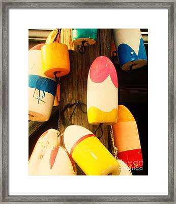 Color Blocks Framed Print by Julia-Rose Liptak