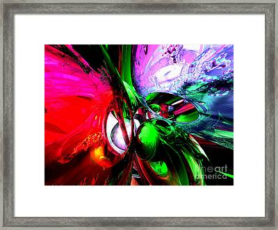 Color Carnival Abstract Framed Print by Alexander Butler